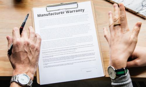 Manufacturer Warranty paper