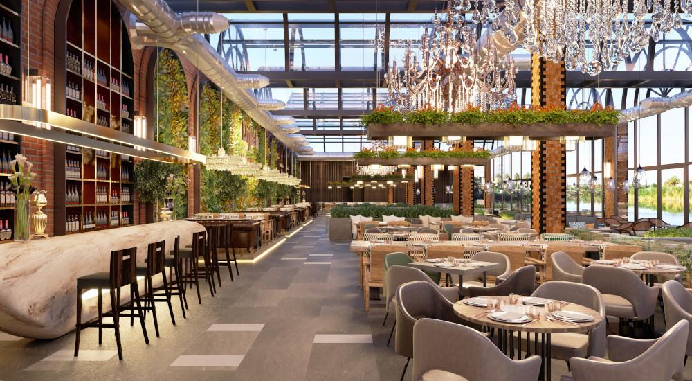 Beautiful restaurant dining room